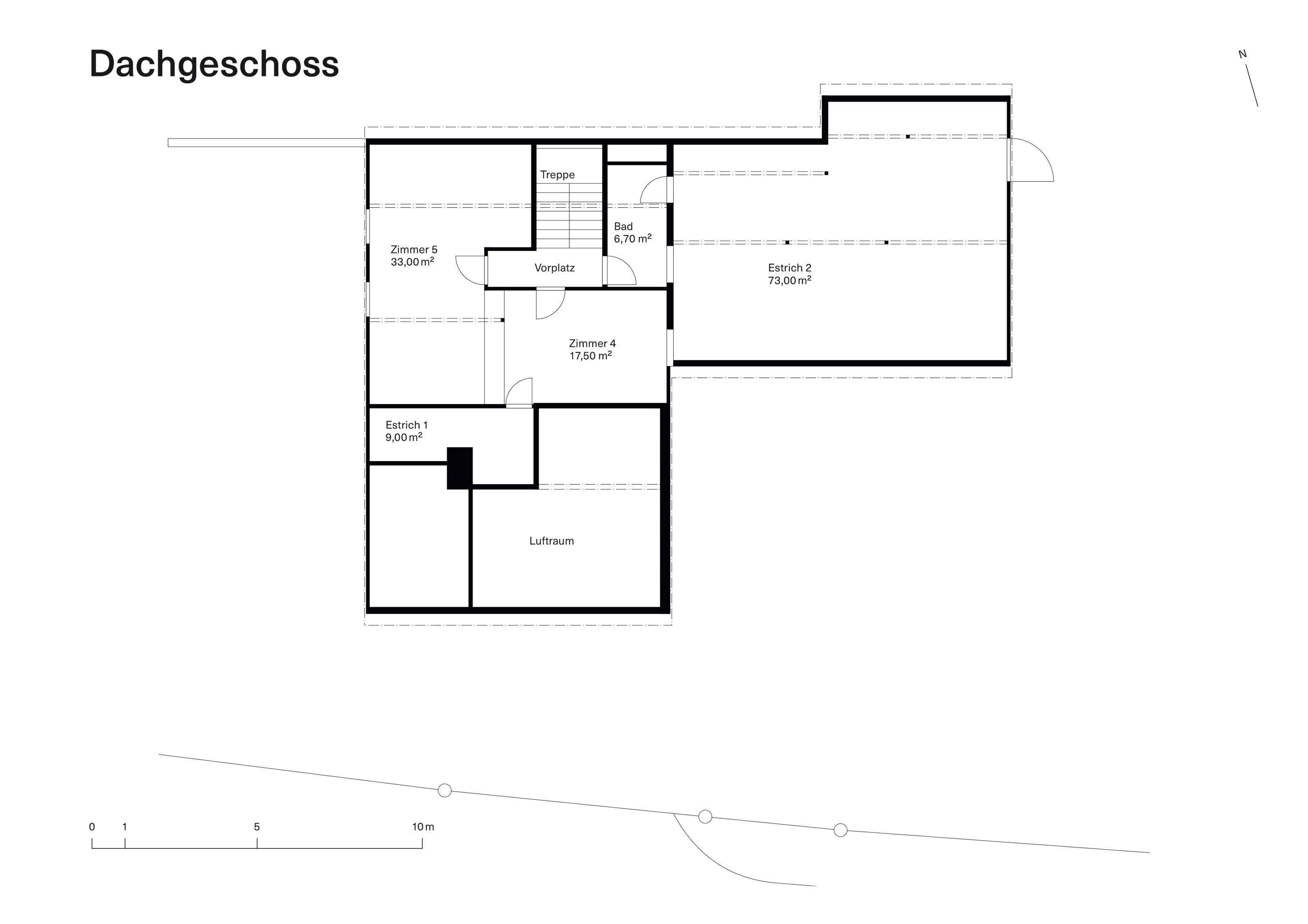 Vorstudie Bestand Dachgeschoss