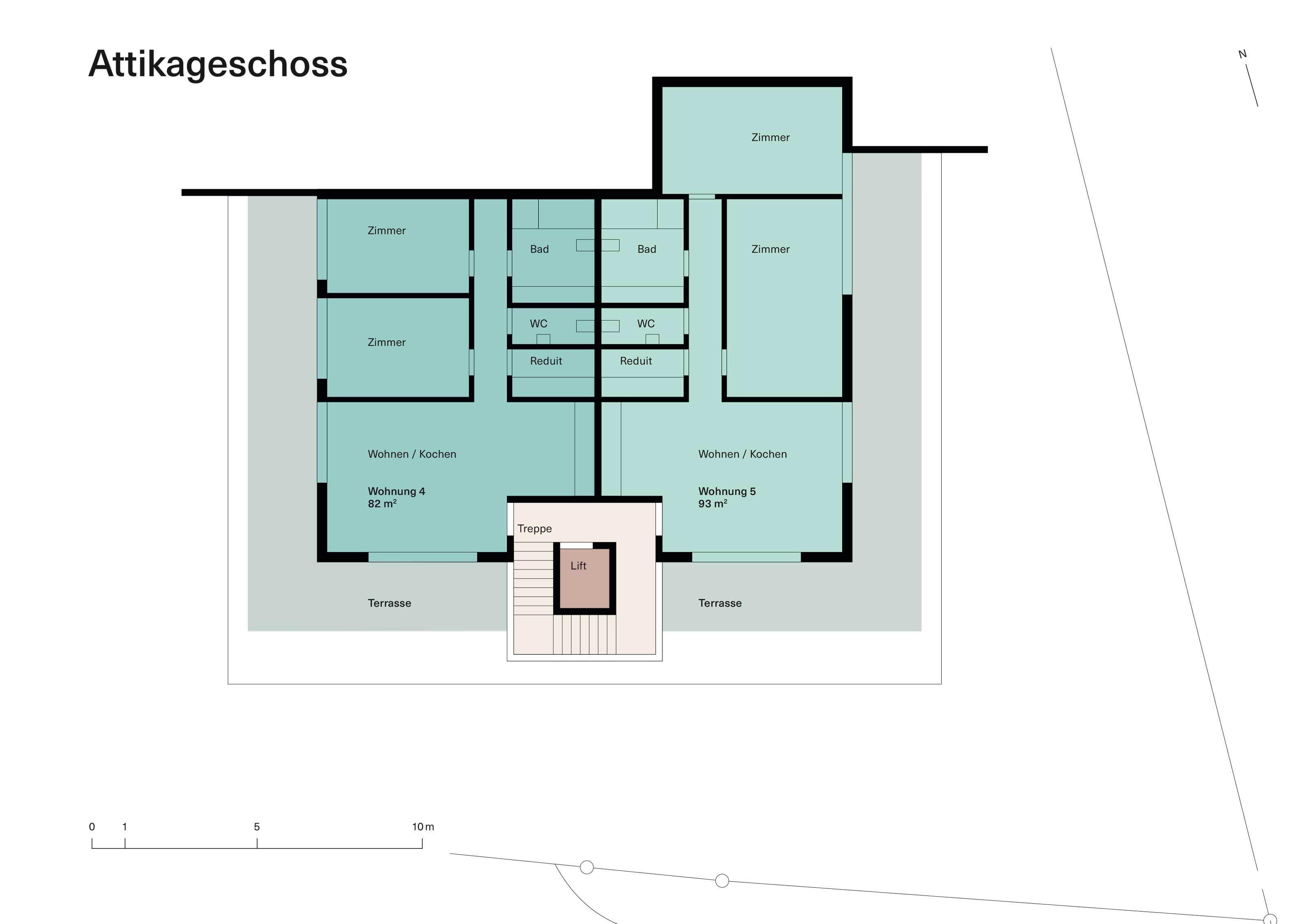 Vorstudie Neubau Attikageschoss