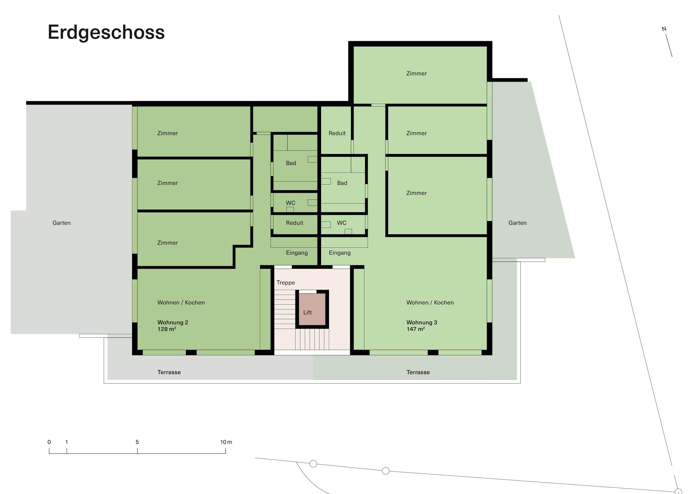Vorstudie Neubau Erdgeschoss