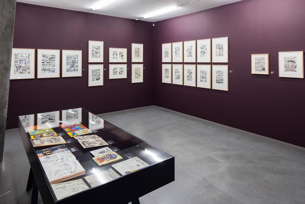 Cartoon Crumb Ausstellung 05