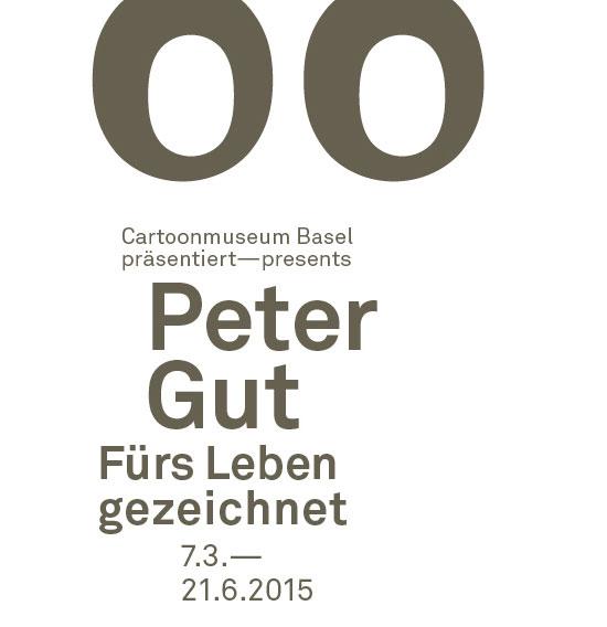 Cartoon Peter Gut Stempel Weiss