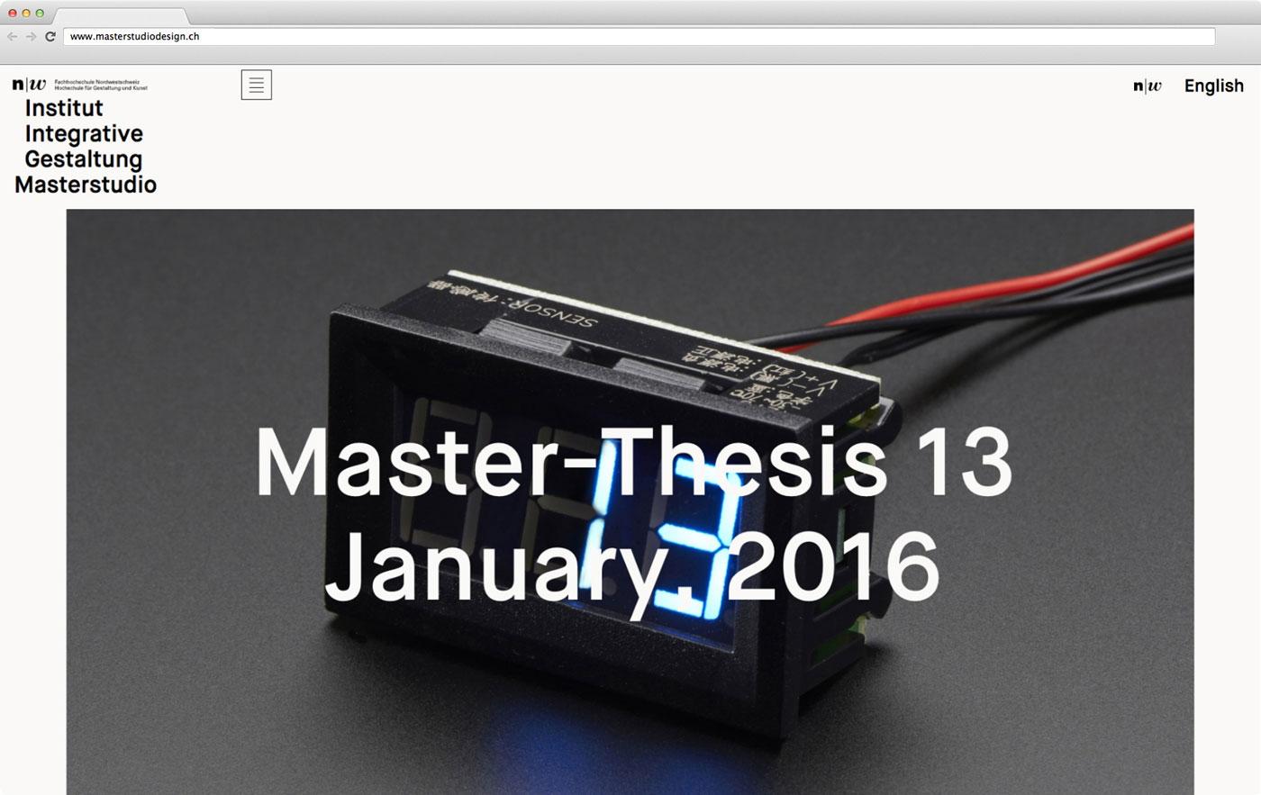 Masterstudio Webseite 01