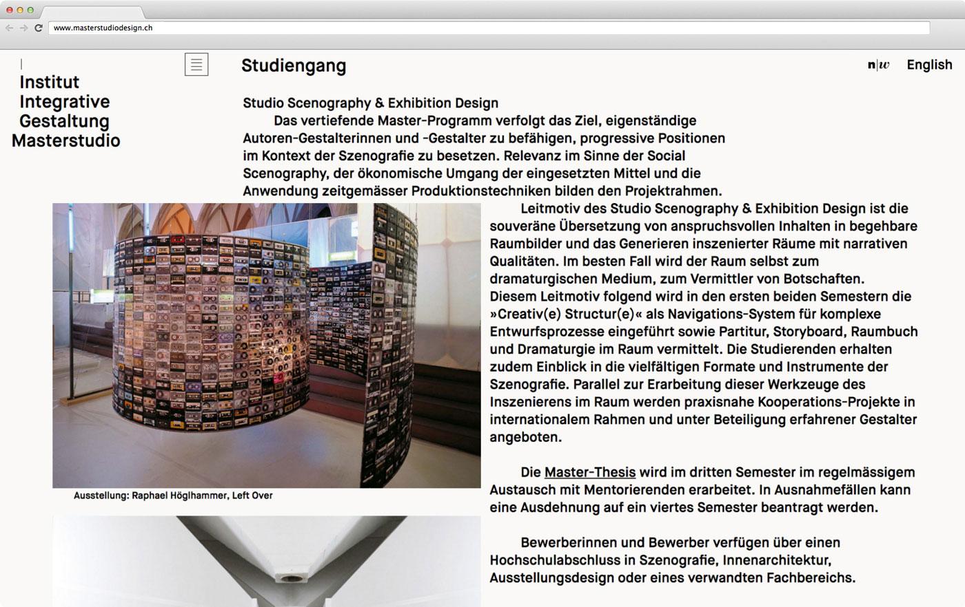 Masterstudio Webseite 02