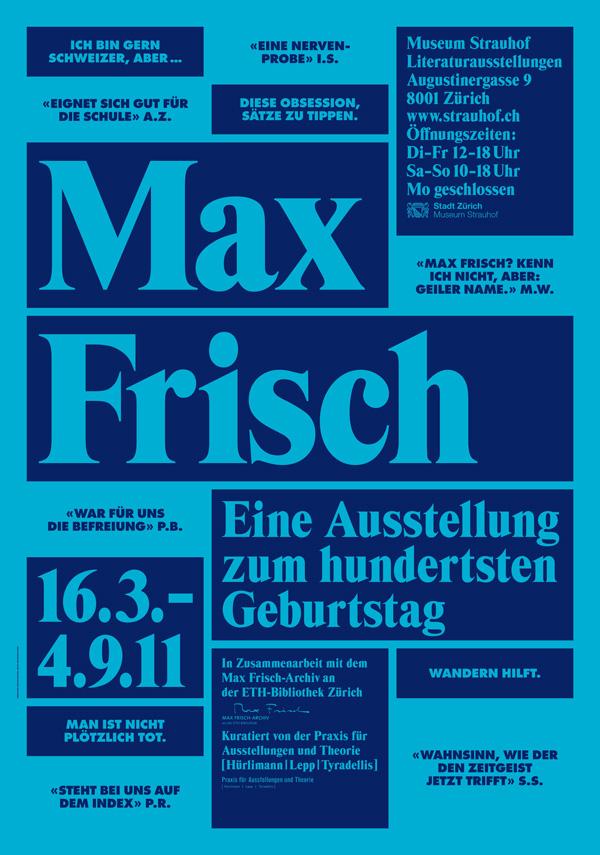 Max Frisch Plakat 01