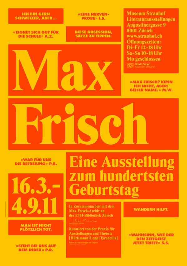 Max Frisch Plakat 02