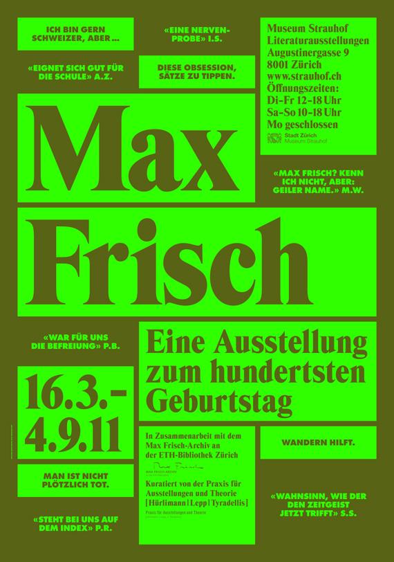 Max Frisch Plakat 03